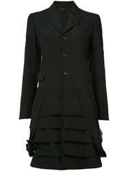 Comme Des Garcons Frill Coat Women Wool L Black