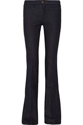 Mih Jeans Marrakesh Mid Rise Flared Jeans Blue