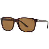 Ralph Lauren Rl8142 Polarised Square Sunglasses Tortoise