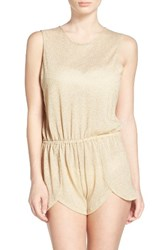 Luli Fama Women's Scalloped Cover Up Romper