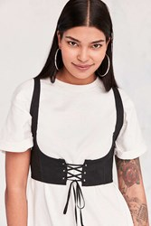Silence And Noise Cassidy Crop Corset Vest Black