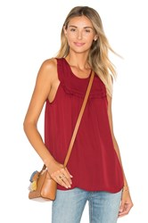 Joie Gemini Silk Tank Red