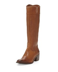 Donald J Pliner Willi Leather Riding Boot Chestnut Brown