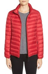 Women's Tumi 'Pax On The Go' Packable Quilted Jacket Red