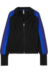 No Ka' Oi Ka'oi Powerhouse Striped Stretch Track Jacket Blue