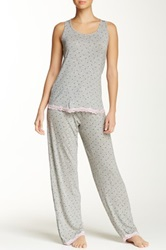Rene Rofe Tank And Pant Pajama Set Gray