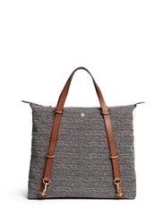 Mismo 'M S Day Pack' Zigzag Canvas Tote Grey