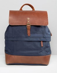 Timberland Leather Trim Backpack Navy Navy
