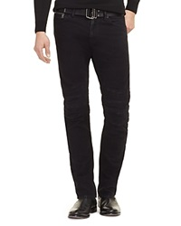 Ralph Lauren Black Label Piston Moto Slim Fit Moleskin Jeans