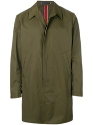 Paul Smith Ps By Long Sleeve Trench Coat Green