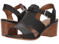 Comfortiva Amber Black Cow Oily Veg Clog Mule Shoes
