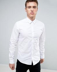 Solid Shirt White Shirt In Regular Fit White