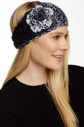 David And Young Flower And Sequin Headband Black