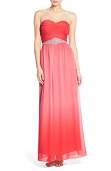 Women's Speechless Embellished Ombre Strapless Gown