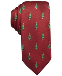 John Ashford Woven Christmas Tree Tie Only At Macy's Red