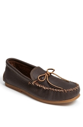 Minnetonka 'Street' Moccasin Dark Brown Leather