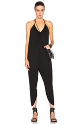 Haute Hippie Halter Drapey Jumpsuit In Black