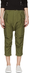 Nlst Green Cargo Drop Crotch Shorts