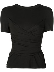 Alexis Slim Fit Ruched Top Black