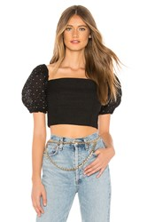 C Meo Collective Think About Me Top Black