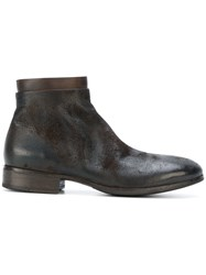 Marsell Ankle Boots Men Calf Leather Leather Rubber 44 Brown