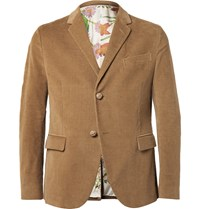 Gucci Tan Slim Fit Corduroy Blazer Brown
