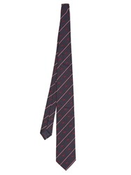Dunhill Tweenie Stripe Tie Navy Multi