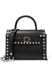 Alexander Wang Attica Mini Studded Textured Leather Shoulder Bag Black
