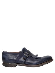 Church's Shanghai Washed Leather And Linen Shoes