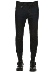 Diesel 15Cm Cropped Waxed Cotton Jeans Black