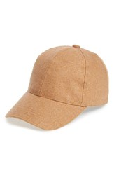 Women's Bp. Solid Wool Baseball Cap Beige Tan