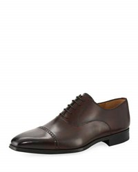 Magnanni Wolden Perforated Lace Up Dress Shoe Burgundy