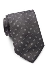 Hugo Boss Patterned Silk Tie Black