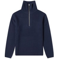 Acne Studios Korman Sporty Wool Rib Knit Blue