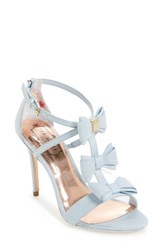 Ted Baker Women's Appolini Bow Sandal Light Blue Fabric