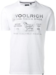 Woolrich Faded Logo T Shirt Men Cotton Xl White