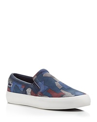 Lacoste Rene Slip On Sneakers Navy Blue Burgundy