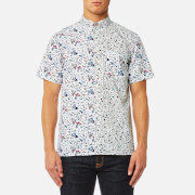 Paul Smith Ps By Men's Cut Up Floral Short Sleeve Shirt White Multi