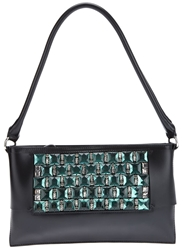 Andrea Incontri Embellished Shoulder Bag Black