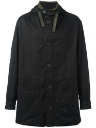 Marni Hooded Coat Black