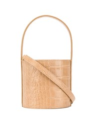 Staud Small Bisset Bucket Bag Neutrals