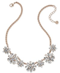 Charter Club Rose Gold Tone Crystal Cluster Necklace Only At Macy's