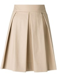 Boutique Moschino Pleated Mini Skirt Nude Neutrals
