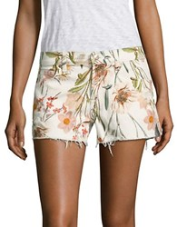 7 For All Mankind Tropical Printed Cutoff Shorts