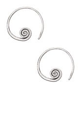 Ruby Sage Peaceful Warrior Sterling Hoop Earrings Metallic