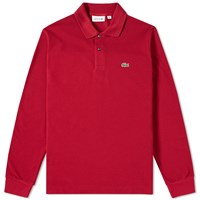 Lacoste Long Sleeve Classic Pique Polo Burgundy