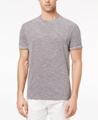 Ryan Seacrest Distinction Men's Slim Fit Gray Heathered T Shirt Created For Macy's