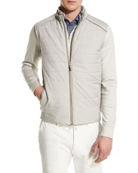 Loro Piana Storm System Quilted Vest Tan