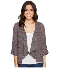 B Collection By Bobeau Emily Cardigan Berry Women's Sweater Burgundy