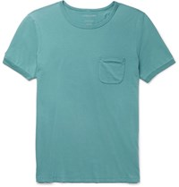 Outerknown Sojourn Slim Fit Organic Pima Cotton Jersey T Shirt Turquoise